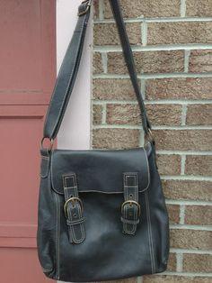 Boden Leather Messenger Crossbody Shoulder Bag Hobo Purse Gray Adjustable Strap | eBay