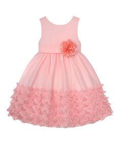 American Princess Peach Ruffle A-Line Dress - Toddler & Girls | zulily