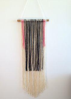DIY Yarn Wall Hanging via Hot for Houses