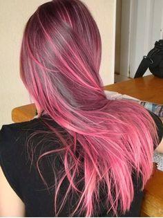 cabelo rosa lindoooo