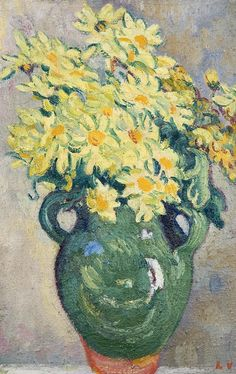 Vase with Yellow Flowers, 1907. Louis Valtat