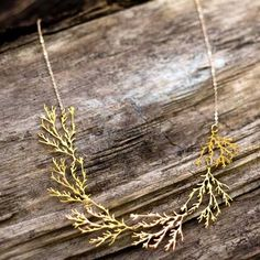 Filament Necklace Gold-Plated  by Nervous System