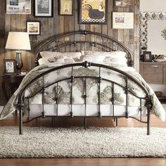 Kingstown Home Emmalina Metal Panel Bed & Reviews | Wayfair