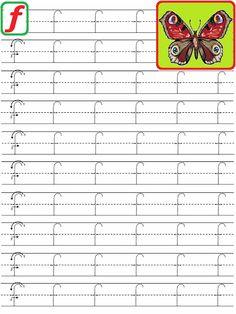 Handwriting Practice Worksheets, Letter Tracing Worksheets, Tracing Letters, Alphabet Worksheets, Alphabet Writing, Teaching The Alphabet, Learning Letters, Preschool Learning Activities, Kindergarten Worksheets
