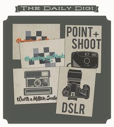 Printable -- Point + Shoot Filler Cards from the Daily Digi