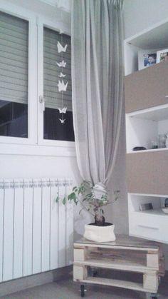Living room - origami - white - table - bancali - bonsai