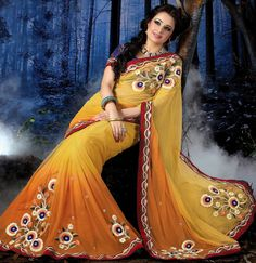 Glorious Golden Yellow Saree