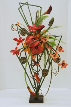 Image result for heliconia and foliage flower arrangements modern