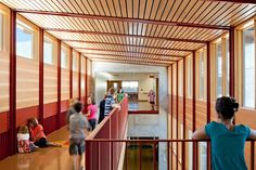 Heres another photo I shot for of Maple Elementary. I wish my elementary school had been this beautiful. Maple Elementary is stunning! School Architecture, Modern Architecture, Great Schools, Nursery School, Classroom Design, Learning Spaces, Interior Photography, Cool Lighting, School Design