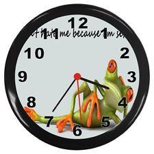 Wonderful Frog Kitchen Decor   Sexy Frog New Black Wall Clock Room Decor Gift   Ranas    Pinterest   Frogs