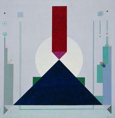 Rudolf Bauer, Blue Triangle, 1934 - Oil on canvas