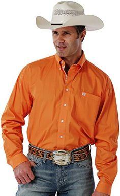 Cinch Western Shirt Mens L/S Plain Weave Solid L Orange MTW1103985 Cinch http://www.amazon.com/dp/B00MHDG32M/ref=cm_sw_r_pi_dp_aOcuvb0SFSB57
