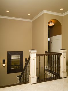 Newel Posts With Iron Balisters Design, Pictures, Remodel, Decor and Ideas - page 2