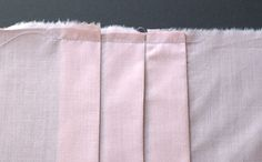 Throughout this lesson, I'll show you how to make the pleats, and how they drape. We'll discuss: Cartridge pleats Box pleats Inverted pleats Rolled pleats