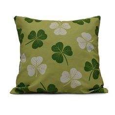"""The Holiday Aisle Funky Junky Lucky Throw Pillow Size: 20"""" H x 20"""" W, Color: Light Green"""