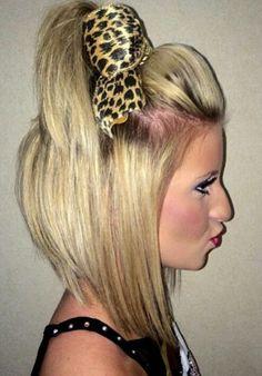 gorgeous short cheer hair
