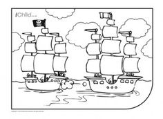 This pirate spot the difference activity will keep your child busy ...