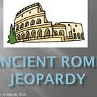 This PPT is a Jeopardy style end of unit review about Ancient Rome. Covers Roman Geography, Achievements, Government, and the Empire. Answer shows ...