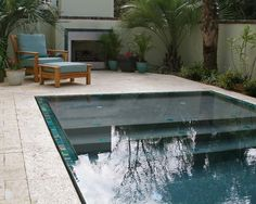 small pool...love the tiled edges and steps