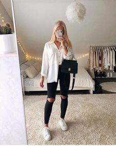 Trendy Fall Outfits, Casual School Outfits, Cute Comfy Outfits, Basic Outfits, Simple Outfits, Stylish Outfits, Cool Outfits, Girls Fashion Clothes, Winter Fashion Outfits