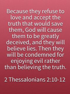 2 Thessalonians 2:10-12