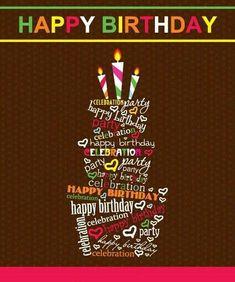 vector set of Happy birthday cake card material 03 Birthday Wishes Quotes, Happy Birthday Messages, Happy Birthday Greetings, Happy Birthday Cake Pictures, Birthday Cake Card, Birthday Text, Happy Birthday Celebration, Happy Birthday Parties, Happy Birthdays