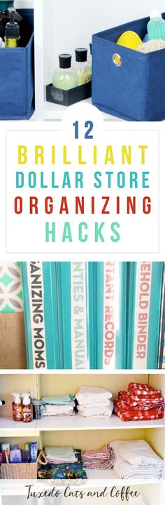 Organizing your home doesn't have to cost a ton of money. In fact, there are many Dollar Store organizing hacks that you can do for just $1 per container or with items you already have at home. Here are a bunch of dollar store organizing hacks from blogs across the web. #organizing #organization #organizingtips #organizinghacks #organizationhacks #dollarstore #dollarstoreorganizing