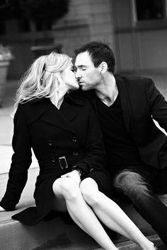engagement session, love, kiss, black and white, Kristin Vining Photography, Charlotte Wedding Photographer