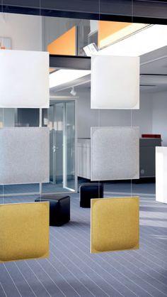 3D ABSORBER - Panneaux acoustiques à suspendre - AKUSTIK OFFICE SYSTEME Gmbh
