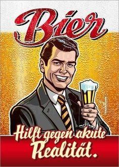 Bier hilft gegen akute Aktualität lustig witzig Sprüche