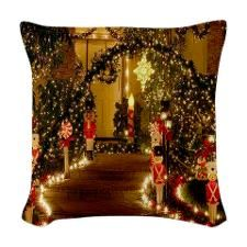 Christmas Decorations Woven Throw Pillow