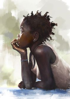 "fyblackwomenart: ""Watching by Tsabo6 """