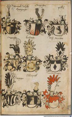 Wappen besonders von deutschen Geschlechtern Süddeutschland ?, 1475 - 1560 Cod.icon. 309  Folio 41r