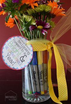 EASY Back to School Teacher Gift + Printable - back to school