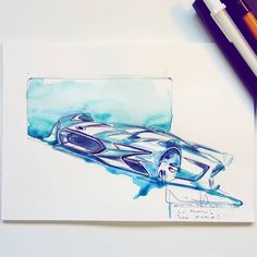 Managed to get some tone on this and decided to give it a bit of a Mustang/GT style livery. Not bad after a few weeks brake, itching to do a bigger one once again #sketch #conceptart #cardesign #watercolor #carsketch #conceptcar #turku #drawing #ford #ecoboost #lemans #design #sketch #racecar