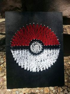 pokemon string art gift idea. I really want to do this