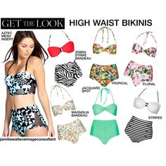 """Trending: High Waist Bikinis"" by jamilia-wallace on Polyvore"