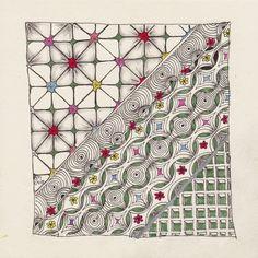 SimTangle - Mustermix mit Frühlingsfarben