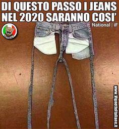 Di questo passo i jeans nel 2020 saranno così (www.VignetteItaliane.it)