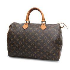 Louis Vuitton Speedy 35 Monogram Handle bags Brown Canvas M41524