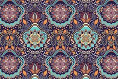 2 Ornamental Seamless Patterns by Sunny_Lion on Creative Market