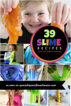 Kid's Party Activities: Slime Recipes - Spaceships and Laser Beams