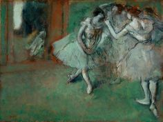 "A group of dancers"" By Edgar Degas, from Paris (1834 - 1917) - oil on paper laid on canvas; 46 x 61.20 cm - © National Galleries of Scotland, UK Presented by Sir Alexander Maitland in memory of his wife Rosalind 1960"