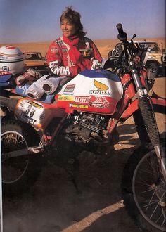 Christine Martin / Honda XR 350 Paris Dakar 1983
