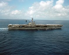 USS America (CV-66) in the Indian Ocean, 1983
