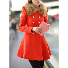 Solid Color Noble Style Worsted Turn-Down Collar Long Sleeves Women's CoatCoats | RoseGal.com