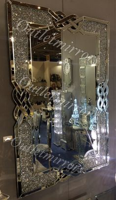 Crush Sparkle Glitter Mirror Photo frame 5 x 7 Diamond Furniture, Mirrored Bedroom Furniture, Home Decor Furniture, Furniture Dolly, Glitter Furniture, Cheap Furniture, Glam Bedroom, Bedroom Decor, Glitter Mirror