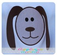 floppy ear doggy applique design from applique momma