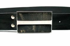Brave Leather Mancoe Belt with bone detail buckle. Brave, Menswear, Belt, Detail, Leather, Accessories, Male Clothing, Waist Belts, Belts