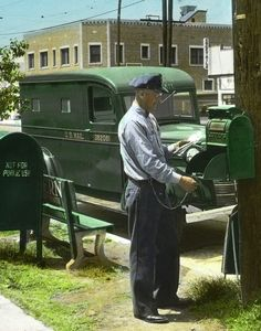 Image Detail for - ANTIQUE MAIL TRUCK VEHICLE PHOTO U.S. MAIL BOX POSTAL CARRIERS MAILMAN .